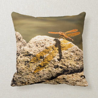 Dragonfly Sun Bathing Throw Pillow