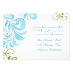 Dragonfly Swirls Scroll Chic Modern Floral Invite