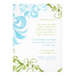 Dragonfly Swirls Scroll Chic Modern Floral Invite Announcement