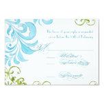 Dragonfly Swirls Scroll Chic Modern Floral Invite 9 Cm X 13 Cm Invitation Card