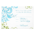 Dragonfly Swirls Watercolor Wedding Invitations