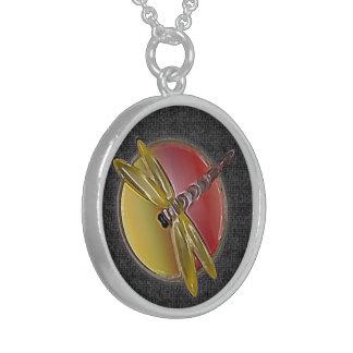 Dragonfly Symbol black Necklace