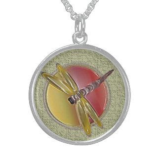 Dragonfly Symbol sage Necklace