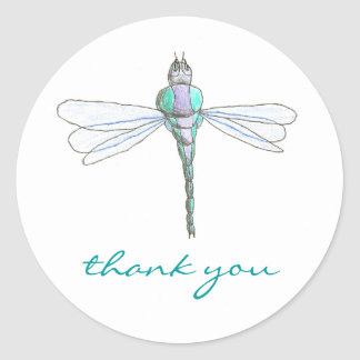Dragonfly thank you sticker