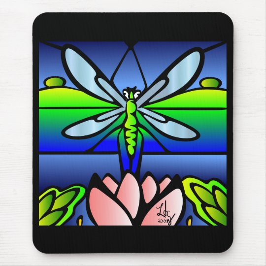 Dragonfly Tiffany Style Mousepad