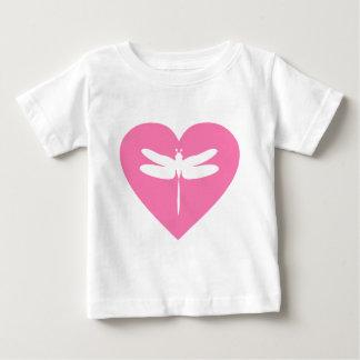 Dragonfly Valentine Heart Baby T-Shirt