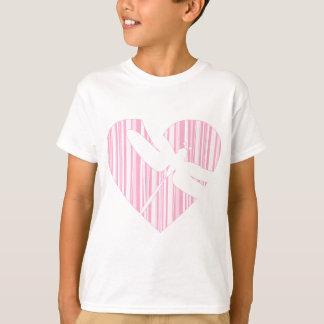Dragonfly Valentine Heart T-Shirt