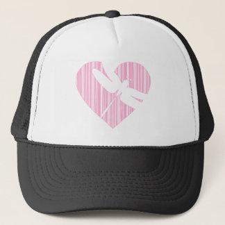 Dragonfly Valentine Heart Trucker Hat