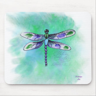 Dragonfly Watercolor Mousepad