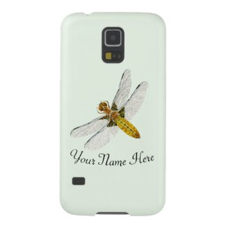 Dragonfly Watercolor Painted Artwork Case For Galaxy S5