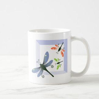 dragonfly window coffee mug