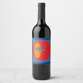 dragonfly wine label