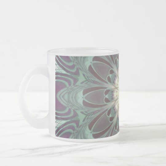 Dragonfly Wings Mandala Frosted Glass Coffee Mug