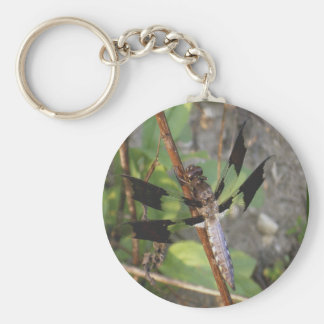 Dragonfly with black wings keychain