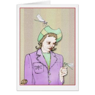 Dragonfly Woman Card