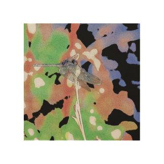 Dragonfly Wood Art Wood Canvas