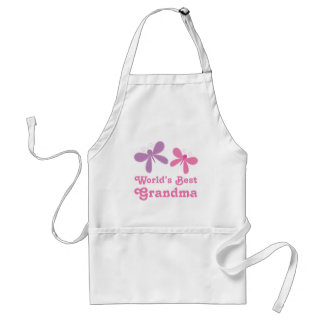 Dragonfly World s Best Grandma Gift Aprons