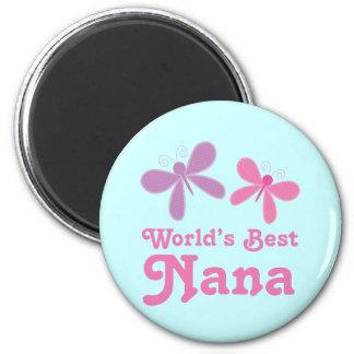 Dragonfly World's Best Nana Gift Magnets