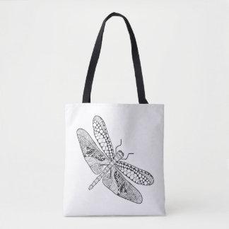 Dragonfly Zendoodle 2 Tote Bag
