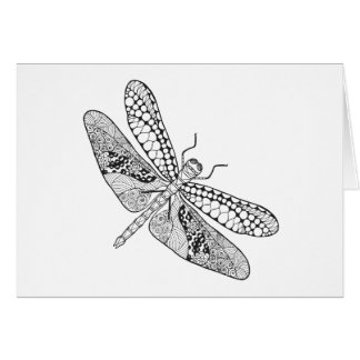 Dragonfly Zendoodle Card