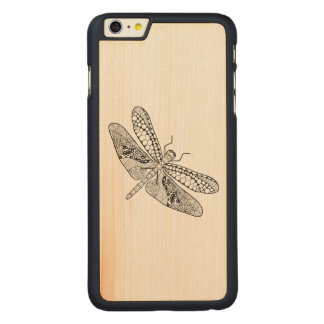 Dragonfly Zendoodle Carved® Maple iPhone 6 Plus Case