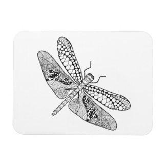 Dragonfly Zendoodle Magnet