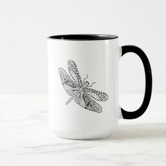 Dragonfly Zendoodle Mug