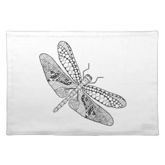 Dragonfly Zendoodle Placemat