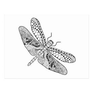 Dragonfly Zendoodle Postcard
