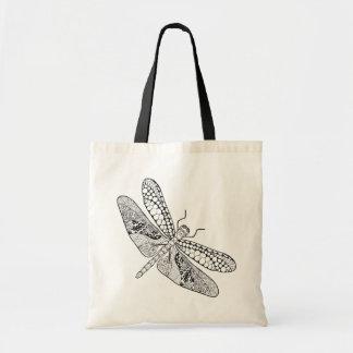 Dragonfly Zendoodle Tote Bag