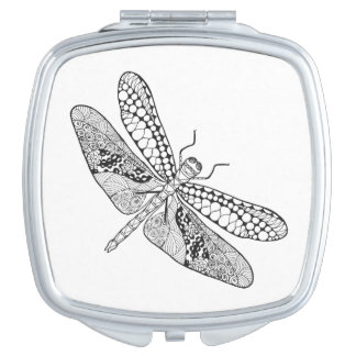 Dragonfly Zendoodle Travel Mirrors