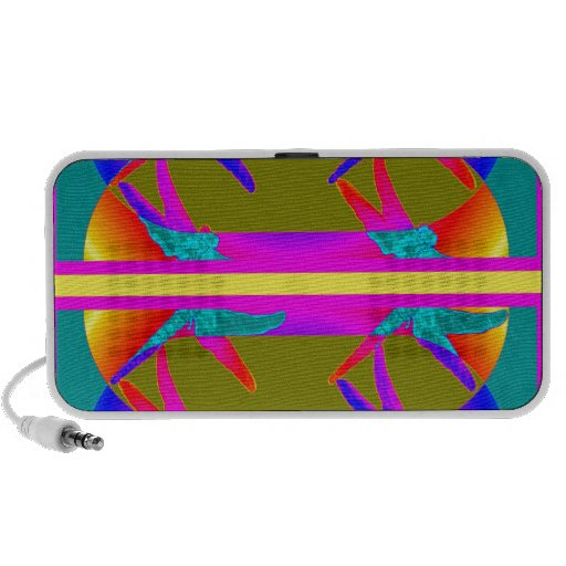 Dragonfly's Live in Rainbows giftsby sharles Travel Speaker
