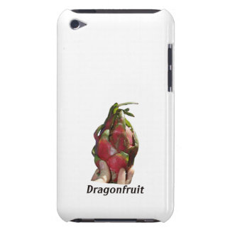 Dragonfruit held in fingers with text photo Pitaya iPod Touch Cases