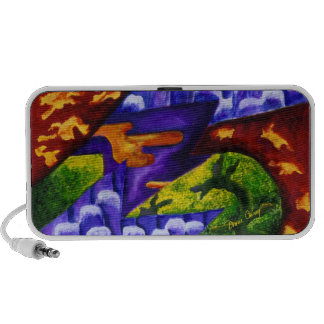 Dragonland - Green Dragons & Blue Ice Mountains iPod Speakers