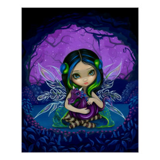 Dragonling Garden 2 fantasy dragon fairy Art Print