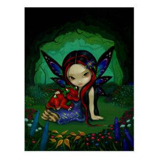 """Dragonling Garden I"" Postcard"