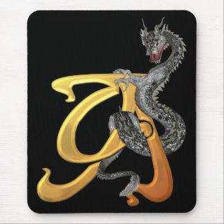 Dragonlore Initial A Mouse Mat