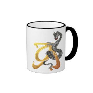 Dragonlore Initial A Coffee Mugs
