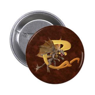 Dragonlore Initial C Pinback Buttons