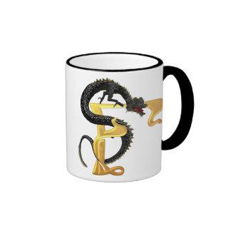 Dragonlore Initial F Coffee Mug