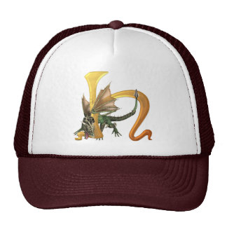Dragonlore Initial H Trucker Hat