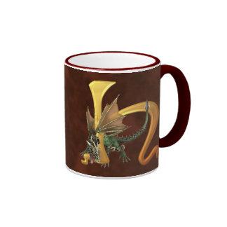 Dragonlore Initial H Coffee Mug