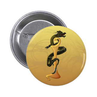 Dragonlore Initial I Pinback Buttons