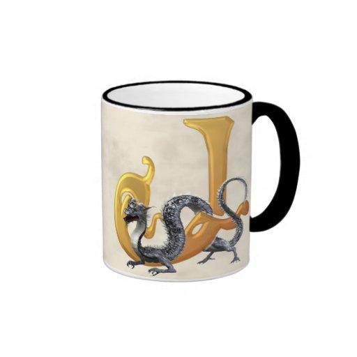 Dragonlore Initial J Ringer Mug