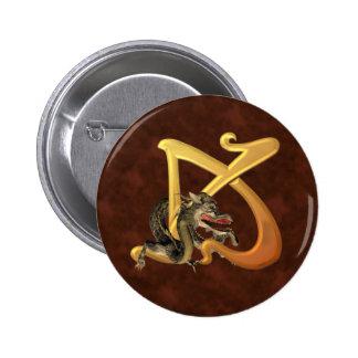 Dragonlore Initial K Pinback Buttons