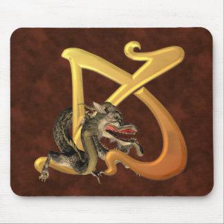 Dragonlore Initial K Mouse Pad