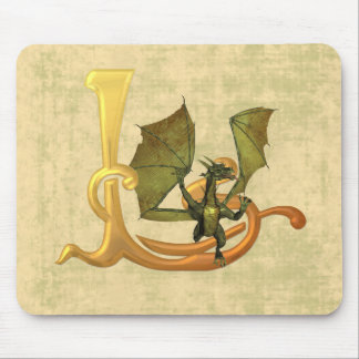 Dragonlore Initial L Mouse Pad