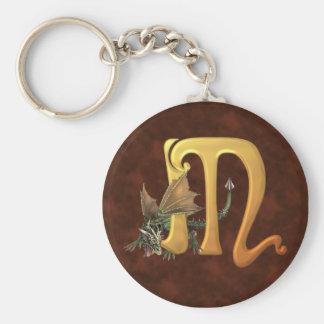 Dragonlore Initial M Key Ring