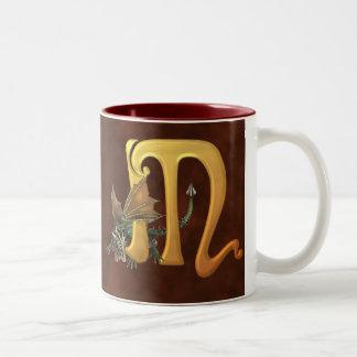Dragonlore Initial M Two-Tone Coffee Mug