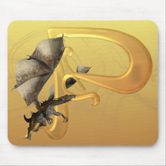 Dragonlore Initial P Mouse Mat